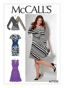 McCall's M7538 Crossover-band top and dresses