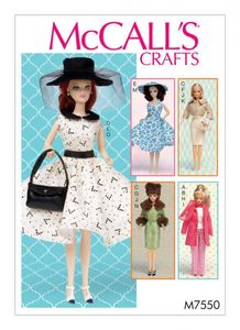McCall's M7550 Barbie-doll clothes