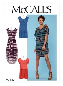 McCall's M7562 Pullover dresses with sleeve ties