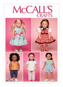 "McCall's M7583 18"" doll clothes"