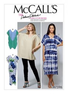 McCall's M7596 V-neck pullover tunic and dresses