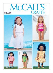 "McCall's M7612 18"" dolls clothes"