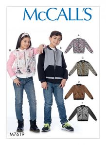 McCall's M7619 Children's/girls'/boys' bomber jackets