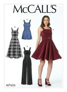 McCall's M7626 Dresses, Belt, Romper, and Jumpsuit with Pockets