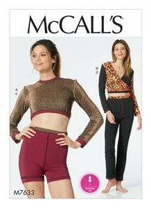 McCall's M7633 Fitness Tops, Shorts, and Pants