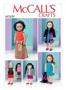 "McCall's M7639 Clothes for 18"" Dolls"