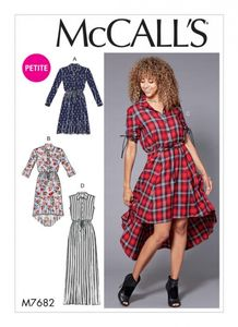 McCall's M7682 Shirtdresses with Drawstring Waist