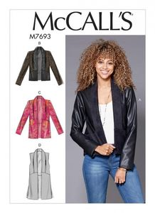 McCall's M7693 Shawl Collar Vest and Jackets