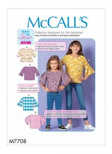 McCALL´s pattern M7708 Girls Tops