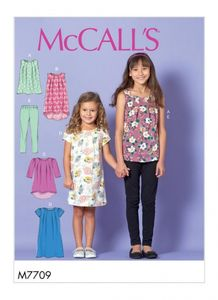 McCall's M7709 Children's/Girls' Tops, Dresses and Leggings