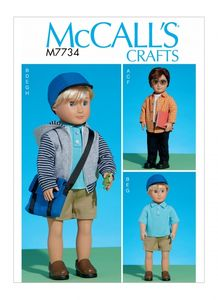 "McCall's M7734 Clothes For 18"" Doll"