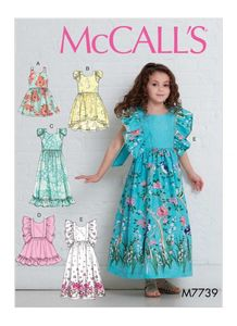 McCall's M7739 Children's/Girls' Dresses (VARASTO)