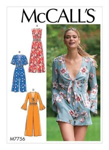 McCall's M7756 Misses' Jumpsuits and Romper