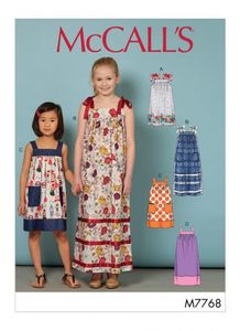 McCall's M7768 Children's/Girls' Dresses