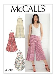 McCall's pattern M7786 Misses' Pants