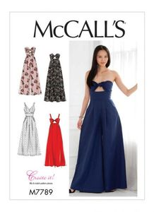 McCall's M7789 Misses' Dresses and Jumpsuits