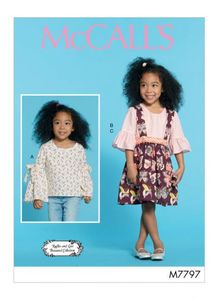 McCall's pattern M7797 Girls Tops and Skirt