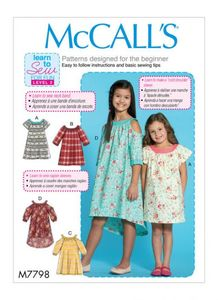 McCall´s pattern M7798 Girls Dresses