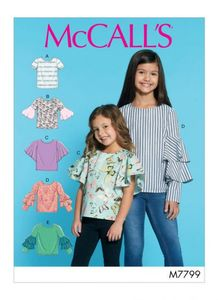 McCall´s pattern M7799 Girls Tops