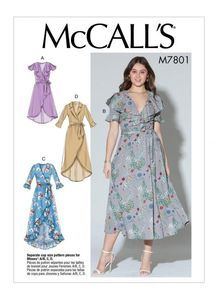 McCall's pattern M7801 Dresses and Belt