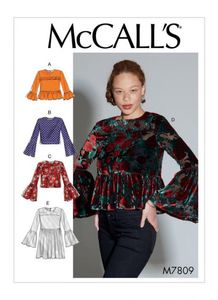 McCall's pattern M7809 Tops