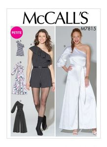 McCall's pattern M7815 Romper, Jumpsuit and Belt