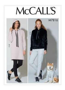 McCall's pattern M7816 Top, Dress, Pants and Dog Coat
