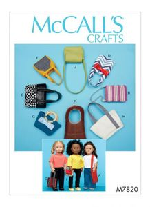 McCall's pattern M77820 Bags For Dolls