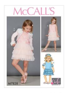 McCall's pattern M7828 Girls Bolero and Dresses