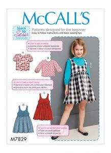 McCall's pattern M7829 Girls Tops and Jumpers