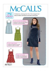 McCall's pattern M7831 Pinafore Dress
