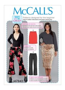 McCall's pattern M7843 Skirts and Pants