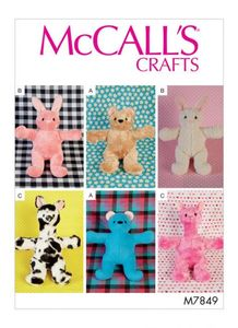 McCall's pattern M7849 Soft Toys