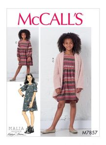 McCall's pattern M7857 Girls Sweater and Dresses