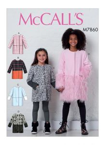 McCALL´s pattern M7860 Girls Coats