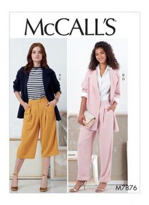 McCall's pattern M7876 Jackets and Pants