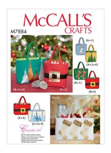 McCall's pattern M7884 Holiday Gift Bags