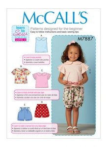 McCall's pattern M7887 Toddler Tops and Shorts