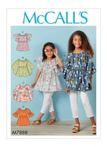 McCALL´s pattern M7888 Girls Tops