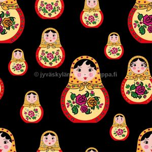 Digital jersey Matryoshka Doll (1m cut)