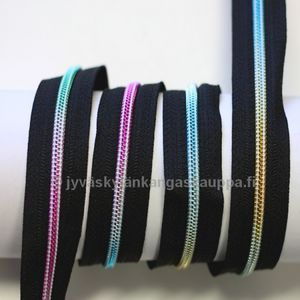 Zipper by metre spiral rainbow