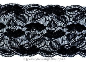 Stretch lace black 14,5cm (a.1,2m cut)