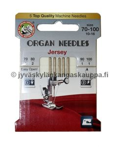 ORGAN jersey needles SET 70/9, 2 x 80/11, 90/14, 100/16