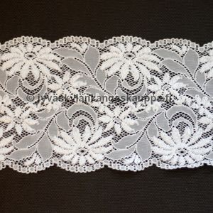 Stretch lace natural white 12cm