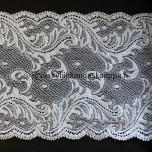 Stretch lace natural white 17,5cm