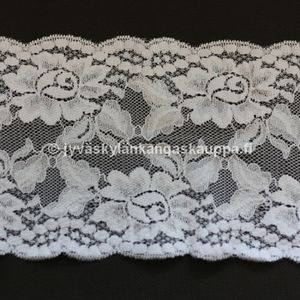 Stretch lace natural white 15cm