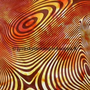 PUL fabric orange spiral