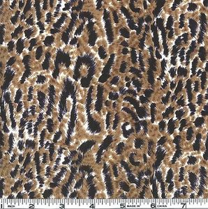 One nappy fabric piece Leopard, brown