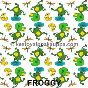 PUL fabric froggy