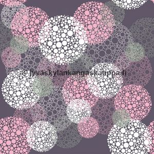 Digital jersey Purple Bubbles (a. 1,1m cut)